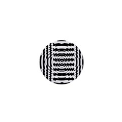 Black And White Abstract Stripped Geometric Background 1  Mini Buttons
