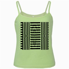 Black And White Abstract Stripped Geometric Background Green Spaghetti Tank