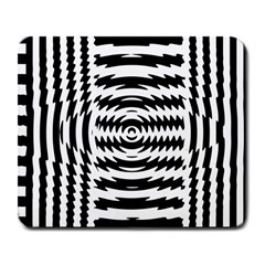 Black And White Abstract Stripped Geometric Background Large Mousepads