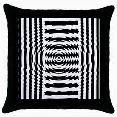 Black And White Abstract Stripped Geometric Background Throw Pillow Case (Black)
