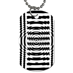 Black And White Abstract Stripped Geometric Background Dog Tag (one Side)