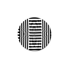 Black And White Abstract Stripped Geometric Background Golf Ball Marker (4 pack)