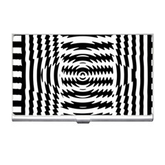 Black And White Abstract Stripped Geometric Background Business Card Holders