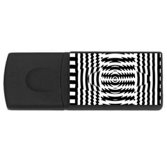 Black And White Abstract Stripped Geometric Background USB Flash Drive Rectangular (2 GB)