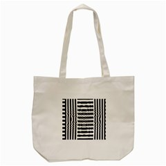 Black And White Abstract Stripped Geometric Background Tote Bag (cream)