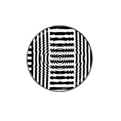 Black And White Abstract Stripped Geometric Background Hat Clip Ball Marker (10 pack)