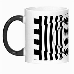 Black And White Abstract Stripped Geometric Background Morph Mugs