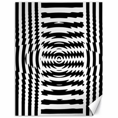 Black And White Abstract Stripped Geometric Background Canvas 18  x 24