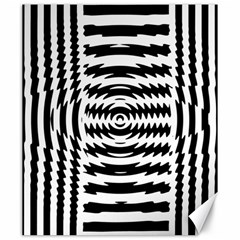 Black And White Abstract Stripped Geometric Background Canvas 20  x 24