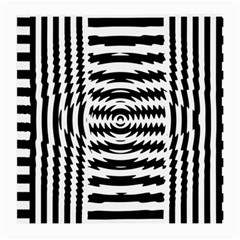 Black And White Abstract Stripped Geometric Background Medium Glasses Cloth (2-Side)