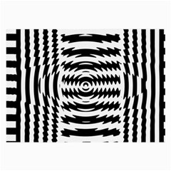 Black And White Abstract Stripped Geometric Background Large Glasses Cloth (2 Side)
