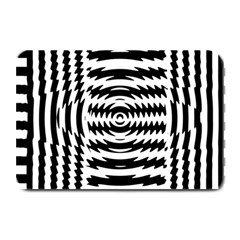 Black And White Abstract Stripped Geometric Background Plate Mats