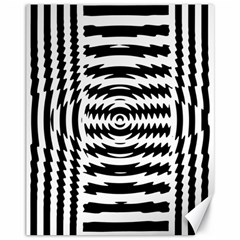 Black And White Abstract Stripped Geometric Background Canvas 11  X 14