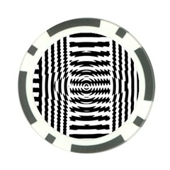 Black And White Abstract Stripped Geometric Background Poker Chip Card Guard