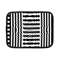 Black And White Abstract Stripped Geometric Background Netbook Case (Small)