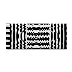 Black And White Abstract Stripped Geometric Background Cosmetic Storage Cases