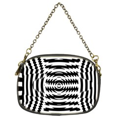 Black And White Abstract Stripped Geometric Background Chain Purses (Two Sides)