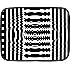 Black And White Abstract Stripped Geometric Background Double Sided Fleece Blanket (Mini)