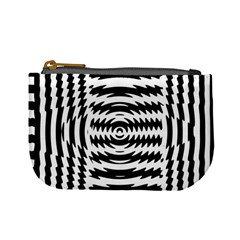 Black And White Abstract Stripped Geometric Background Mini Coin Purses