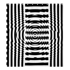 Black And White Abstract Stripped Geometric Background Shower Curtain 66  x 72  (Large)