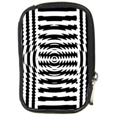 Black And White Abstract Stripped Geometric Background Compact Camera Cases