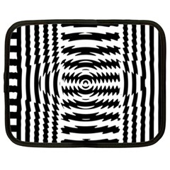 Black And White Abstract Stripped Geometric Background Netbook Case (XXL)