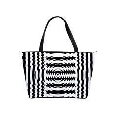 Black And White Abstract Stripped Geometric Background Shoulder Handbags