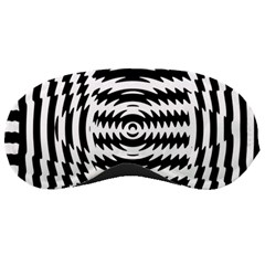 Black And White Abstract Stripped Geometric Background Sleeping Masks