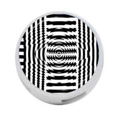Black And White Abstract Stripped Geometric Background 4 Port Usb Hub (one Side)