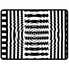 Black And White Abstract Stripped Geometric Background Fleece Blanket (large)
