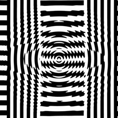 Black And White Abstract Stripped Geometric Background Magic Photo Cubes