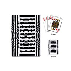 Black And White Abstract Stripped Geometric Background Playing Cards (mini)