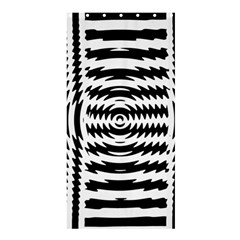 Black And White Abstract Stripped Geometric Background Shower Curtain 36  X 72  (stall)