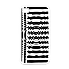 Black And White Abstract Stripped Geometric Background Apple iPhone 4 Case (White)