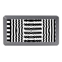 Black And White Abstract Stripped Geometric Background Memory Card Reader (Mini)