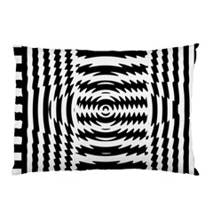 Black And White Abstract Stripped Geometric Background Pillow Case (Two Sides)