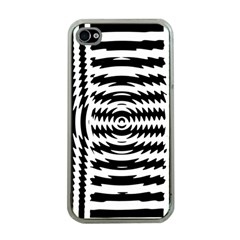 Black And White Abstract Stripped Geometric Background Apple Iphone 4 Case (clear)