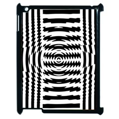 Black And White Abstract Stripped Geometric Background Apple iPad 2 Case (Black)