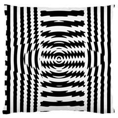 Black And White Abstract Stripped Geometric Background Large Cushion Case (two Sides)