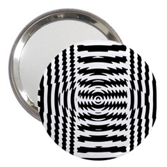 Black And White Abstract Stripped Geometric Background 3  Handbag Mirrors