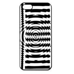 Black And White Abstract Stripped Geometric Background Apple iPhone 5 Seamless Case (Black)
