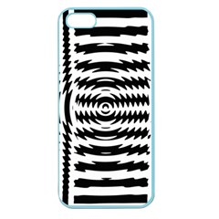 Black And White Abstract Stripped Geometric Background Apple Seamless iPhone 5 Case (Color)