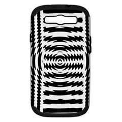 Black And White Abstract Stripped Geometric Background Samsung Galaxy S Iii Hardshell Case (pc+silicone)