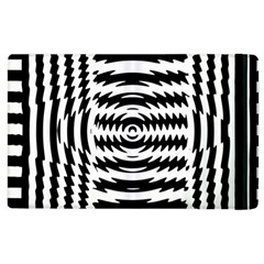 Black And White Abstract Stripped Geometric Background Apple iPad 3/4 Flip Case