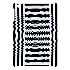 Black And White Abstract Stripped Geometric Background Apple Ipad Mini Hardshell Case