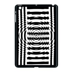Black And White Abstract Stripped Geometric Background Apple iPad Mini Case (Black)