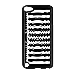 Black And White Abstract Stripped Geometric Background Apple iPod Touch 5 Case (Black)