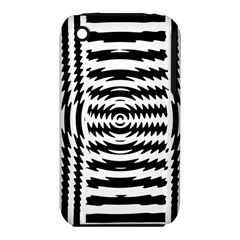 Black And White Abstract Stripped Geometric Background iPhone 3S/3GS