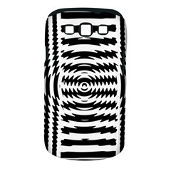 Black And White Abstract Stripped Geometric Background Samsung Galaxy S III Classic Hardshell Case (PC+Silicone)