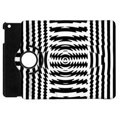 Black And White Abstract Stripped Geometric Background Apple Ipad Mini Flip 360 Case